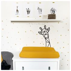 Tape Wall Art, Washi Tape Wall, Baby Room Design, Baby On The Way, Baby Nursery Decor, Kids Furniture, Decoration, Baby Kids, Kids Room