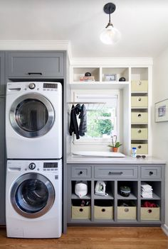 Awesome 90 Awesome Laundry Room Design and Organization Ideas Small laundry room ideas Laundry room decor Laundry room makeover Farmhouse laundry room Laundry room cabinets Laundry room storage Box Rack Home Grey Laundry Rooms, Farmhouse Laundry Room, Laundry Closet, Laundry Room Design, Laundry In Bathroom, Basement Laundry, Laundry Area, Garage Laundry, Laundry Baskets