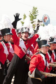 The Big Red Marching Machine at Family Weekend 2012, Illinois State University.