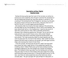starting a descriptive essay