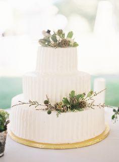 Lovely white rustic wedding cake: http://www.stylemepretty.com/massachusetts-weddings/falmouth/2015/09/11/rustic-elegant-bourne-farm-wedding/ | Photography: Judy Pak - http://judypak.com/