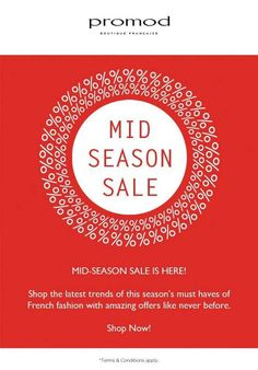 Shop for french fashion at #Promod with the 'O' so awesome Mid Season Sale right here at #ForumCourtyard #Kolkata !  ☎ 03340235019  #Shop #Now !  Do not Miss this ❣ — thinking about going to the mall at Forum Courtyard.