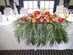 Tropical top table flowers