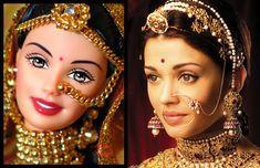 barbie and Aishwarya Rai in rajasthan attire