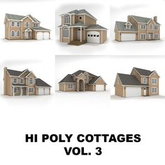 hi poly cottages vol 3 obj House 3d Model, Cottages, Mansions, House Styles, Home Decor, Cabins, Decoration Home, French Country Cottage, Room Decor