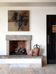 Diy Interior, Home Interior Design, Mediterranean Design, Fireplace Mantle, Minimalist Home, Interior Design Inspiration, Home Art, Fireplaces, Projects