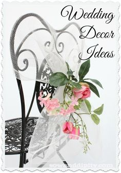 Easy Wedding Decor Idea's using decor mesh #weddingdecoratingideas