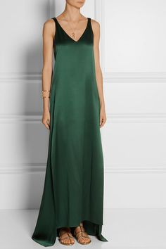 ROSETTA GETTY Silk-satin gown $2,500 Unfortunately this item is sold out. I originally pinned this gown 5 days ago and it is now sold out on @netporter. I knew this dress would go quickly. It is so perfect for the holiday season. Rosetta Getty