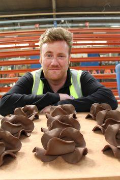 Paul Cummins at the Johnson Tiles factory