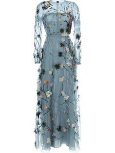 Explore the world of Valentino for women. Shop all accessories, including Valentino bags and shoes at Farfetch. Floral Evening Gown, Long Sleeve Evening Gowns, Blue Ball Gowns, Blue Evening Dresses, Long Sleeve Floral Dress, Designer Evening Dresses, Blue Gown, Long Dresses, Dress Long