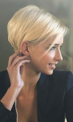 Cropped Pixie Cut Short Haired Girl