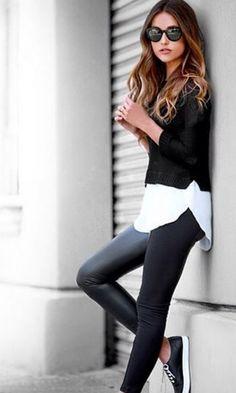 Look: Legging + Tricot
