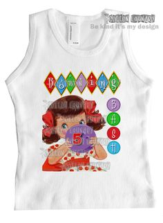 How adorable is this shirt?   Birthday bowling shirt Vintage inspired childrens by CottonLaundry, $20.00