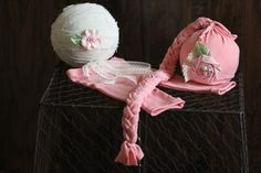 Newborn set Baby girl set Photo prop  Pink by DESERTROSECOUTURE, $22.50