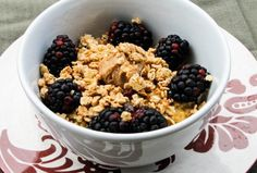 pumpkin cheesecake oatmeal with granola