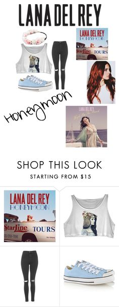 """Lana Del Rey- Honeymoon!"" by nutelligence ❤ liked on Polyvore featuring She's So, Topshop, Converse and Full Tilt"