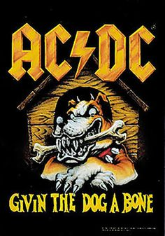 rock band tapestries | AC/DC Poster Flag Givin The Dog A Bone Tapestry