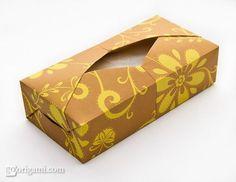 How To: Make a Mini Origami Tissue Box