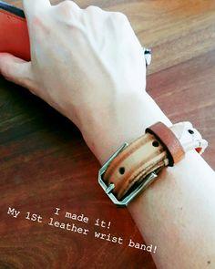 My first handmade leather wrist band. 😍