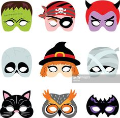 Vector Art : Halloween Printable Masks