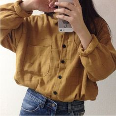Image result for mustard button up shirt