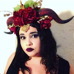 Tiefling Horn Festival Cosplay Headpeice Crown by BlueRuinRelics