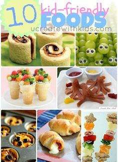 Kid-Friendly Foods fun for after school snacks or lunch boxes!