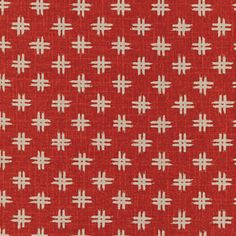 Japanese_Red_Fabric_Tan_Crosshatch
