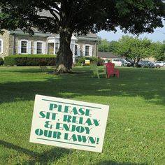 "Simple, lightweight signs give people ""permission"" to use a space they once thought off-limits / Photo: Mary Lou Carolan"