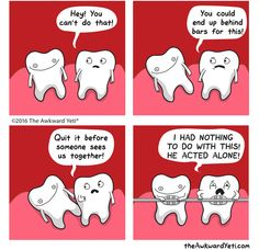 In celebration of National Dentist Day (March 6), we've enlisted the help of The Awkward Yeti to put a humorous spin on dental hygiene, and showcase some of the many reasons to love your dentist. Read more @ http://blogs.gocomics.com/2016/03/5-reasons-to-look-forward-to-the-dentist.html?utm_source=pinterest&utm_medium=socialmarketing&utm_content=5reasonstolookforwardtothedentist-blog&utm_campaign=social | #TheAwkwardYeti #GoComics #comics #webcomics