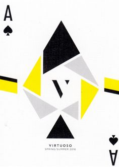 Virtuoso, 2016 Ed. Playing Cards - Art of Play Game Design, Design Art, Graphic Design, Printable Playing Cards, Cool Playing Cards, Play Your Cards Right, Trump Card, Ace Of Spades, Magic Cards