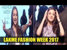 Sonakshi Sinha & Kajal Aggarwal at Lakme Fashion Week 2017 Lakme Fashion Week 2017, Sonakshi Sinha, Interview, Photoshoot, Day, Youtube, Photo Shoot, Photography, Youtube Movies