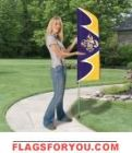 """LSU Swooper Flag Kit 42"""" x 13"""""""