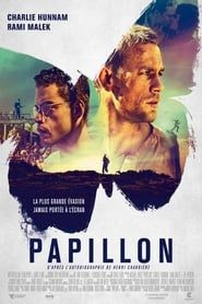 """You are watching the movie Papillon on Putlocker HD. Henri """"Papillon"""" Charrière is convicted in Paris for a murder he did not commit. Sentenced to life imprisonment in the penal colony of French Guiana, he becomes Charlie Hunnam, Film 2017, Rami Malek, Pantomime, Constantin Film, Thriller, Movie Posters, Cinema, History"""