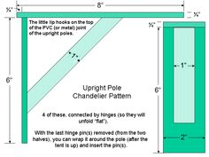 how to make a pole chandelier