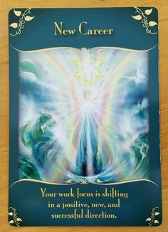 There have been a lot of messages regarding changes lately, and today's card indicates positive changes occurring in your career now. Whether you are transitioning to a more meaningful career, starting your own business, or just making positive changes in What Are Tarot Cards, Angel Guide, Tarot Learning, Thing 1, Positive Changes, Angel Cards, Tarot Readers, Current Job, New Career