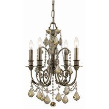 View the Crystorama Lighting Group 5114-CL Regis 4 Light Mini Crystal Candle Style Chandelier at LightingDirect.com.