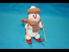"Снеговик своими руками ""Лыжник"" ❀ DIY Snowman ""Skier"" - YouTube"