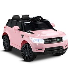 Range Rover Discover Kids Ride On Car Electric Toys Battery w/ Remote LED Lights Replica Range Rover Kids Ride on Car in Pink Toy Cars For Kids, Toys For Girls, Kids Toys, Little Cars For Kids, Kids Ride On Toys, Toddler Toys, Pink Range Rovers, Cadeau Surprise, Power Wheels