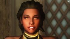 A Racemenu Preset for the Redguard race. Skyrim Mods, Games Images, Fashion Face, I Am Game, New Image, Chevron, Video Games, Faces, Videogames
