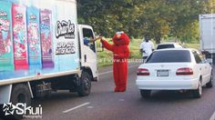 @wildridesja Elmo in the streets like the white line. Another successful promotional campaign by our team @skuiija.  #branddevelopment #skuii #digitalimagesphotostudio