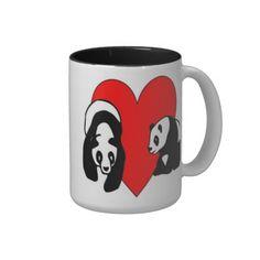 Panda Love Coffee Mugs Personalized