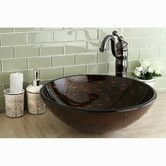Found it at Wayfair - Fauceture Bologna Glass Round Vessel Bathroom Sink