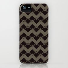 Taupe Geometric Art Deco Chevron Pattern.  iPhone 5 (and 4 and 3) Case by Jen Montgomery - Society 6