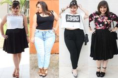Chick Plus Size Outfit For Daily 15 Inspirational Chick Plus Size Outfit For Daily - Fazhion Plus Size Chic, Look Plus Size, Curvy Plus Size, Plus Size Girls, Plus Size Casual, Plus Size Outfits, Curvy Girl Fashion, Plus Size Fashion, Queen Fashion