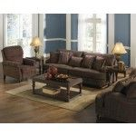 Jackson Furniture - Brennan 3 Piece Living Room Set in Auburn/Garnet - 4438-03-3SET