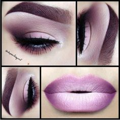 Lipstick And Eyeshadow Colors To Try This Weekend ❤ liked on Polyvore featuring beauty products, makeup, eye makeup, eyeshadow, eyes and beauty