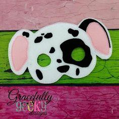 Dalmatian Felt Mask Embroidery Design - 5x7 Hoop or Larger