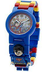 LEGO Kids' DC Universe Super Heroes Plastic Minifigure Link Watch