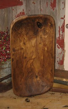 Long Primitive Wood DOUGH BOWL-Country Kitchen-Cabin Decor-Wooden Centerpiece-Ships FAST. $59.99, via Etsy.